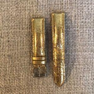 Michele 18mm Gold Band